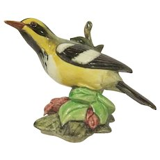Stangl Pottery  Black-Throated Green Warbler #3814 Bird Figure