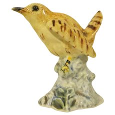 Stangl Pottery #3401S Original Version of the Single Wren Bird Figure