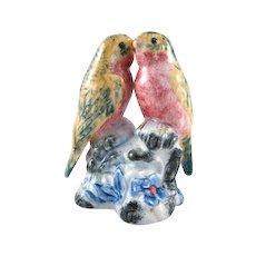 Stangl Pottery #34004D Double Lovebirds Original Design Bird Figure