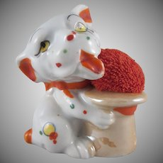 Made in Japan Lustre Bonzo Type Dog Pincushion