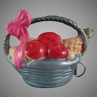 Celluloid Handled Basket of Fruit Made in Japan Tape Measure