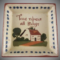 Torquay Devon Motto Ware Cottage Design Dish