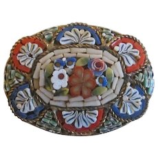 Micro Mosaic Italian Floral Brooch