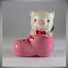 Celluloid Pig in A Shoe Tape Measure Made in Japan