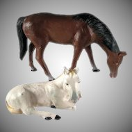 Pair of Made In Germany Putz Horse Figures
