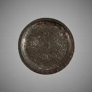 Stamped Tin ABC & Numbers Plate with an Eagle