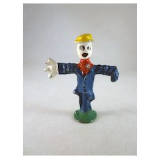 Manoil Lead Scarecrow with a Straw Hat  'Happy Farm' Figure