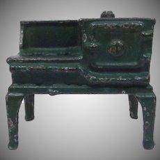 "Kilgore 1/2"" Cast iron Green Stove Dollhouse Furniture"