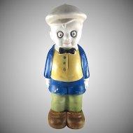 'Smitty' Bisque Bath Salts Holder Figural c.1930 HTF