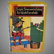 Tin Litho 'Book' Bank Simple Simon