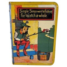 Tin Litho 'Book' Bank Simple Simon
