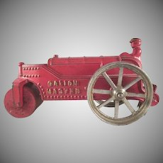 "Kenton Toys Cast Iron 'Galion Master' Road Roller 6-3/4"" long"