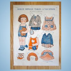 Dolly Dingle 'Takes a Vacation' Paper Doll