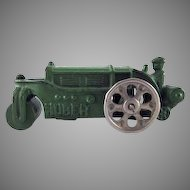 """Hubley Cast iron Huber Road Roller 4-1/2"""" Toy"""