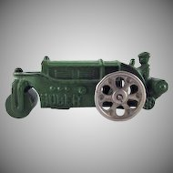 "Hubley Cast iron Huber Road Roller 4-1/2"" Toy"