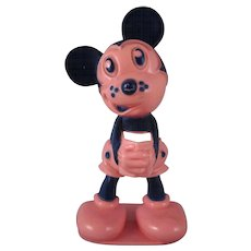 Figural Mickey Mouse hard Plastic Toothbrush Holder - Red Tag Sale Item