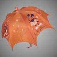 Walt Disney Enterprises, Ltd. 1930s Mickey and Minnie Mouse Children's Umbrella