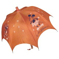 Walt Disney Enterprises, Ltd. 1930s Mickey and Minnie Mouse Children's Umbrella