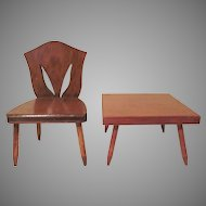 Halls Lifetime Toys Cut Back Chair and Side Table for 8 to 10 Inch Dolls