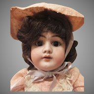 "Heinrich Handwerck Bisque  Socket Head #99 Doll 20"" tall"