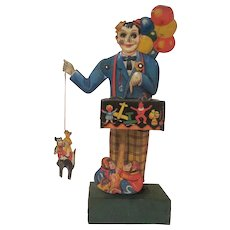Kellerman Made in Germany Early Tin Litho Balloon Vendor Windup Works - Red Tag Sale Item