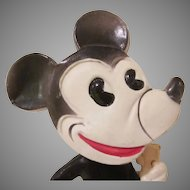 Early Celluloid Mickey Mouse Nodder Toy 1930 HTF