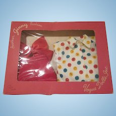 Vintage Ginny Boxed Shorts and ABC Top with Bow Doll Clothes