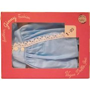 Vintage Boxed Ginny Turquoise Blue Cotton Housecoat 7224 Doll Clothes