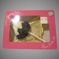 Vintage Ginny  Boxed Yellow Polka Dotted Rain Cape with Umbrella Doll Clothes 1351