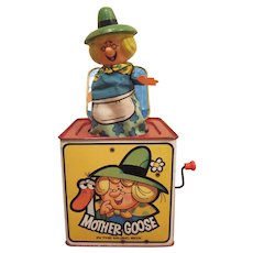 Mattel Mother Goose Tin Litho Jack in the Music Box from 1971