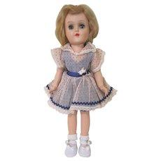 """Ideal Hard Plastic 14"""" Toni Walker Doll 90 W with Original Dress"""