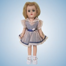 "Ideal Hard Plastic 14"" Toni Walker Doll 90 W with Original Dress"