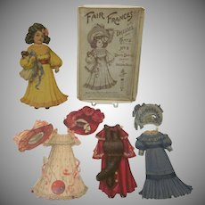 Early Raphael Tuck Fair Frances Paper Doll In Box No. 8 From the Dainty Dollies Series