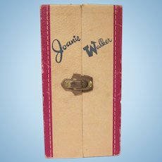 Joanie Walker PMA Heavy Textured Cardboard Doll Case 1950s