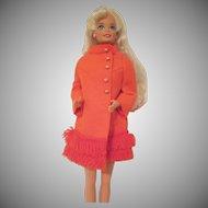 Vintage Barbie Doll Fiery Felt #1789 Coat Only 1970-71