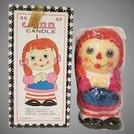 Enesco Raggedy Ann Candle in Box Japan