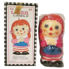 Enesco Raggedy Ann Candle in Box Japan