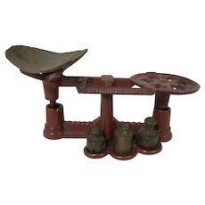 Vintage Miniature Cast Iron General Store Toy Scale