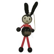 Vintage Irwin Celluloid Oswald Rabbit Baby Rattle