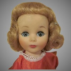 """American Character Little Miss Toni 10-1/4"""" tall Strawberry Blonde with Red Dress"""