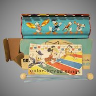 Vintage Donald Duck Tudor Xylophone in Original Box with Sticks and Music