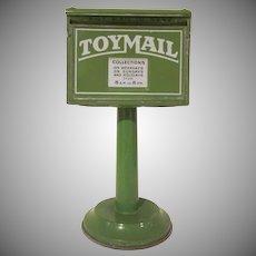 Vintage Tin Litho Hullco Toy Mailbox 1930s