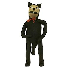 Late 1920s Wool Felt Stuffed Felix the Cat Doll