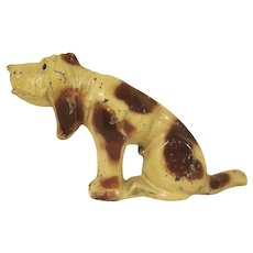 Manoil Cast Metal Hound Dog from the Happy Farm Series Toy Figure