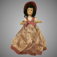 """Vintage Dream World Composition  Formally Dressed 11"""" Doll 1940s"""