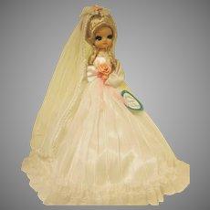"""Vintage Bradley Big Eyed Bride Doll 15"""" tall"""