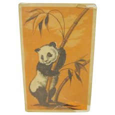 Vintage Panda in Bamboo Tree Playing Cards in Cellophane Package with Tax Stamp Not Opened