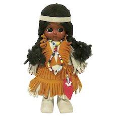 Vintage Carlson Dolls Native American Hard Plastic Woodland Indian Princess Doll