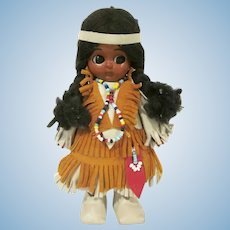 Vintage Carlson Dolls Native American Hard Plastic Woodland Indian Princess Doll