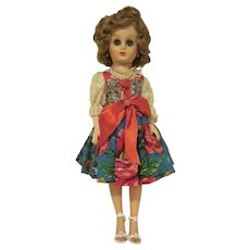 """Vintage 18"""" Grocery Store Doll with a Home Made Outfit with Beads Lovely 14RA 1950s"""